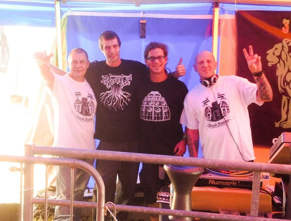 Myself, Joe Roots Maybe, Selecta Swampe & Digital Digsy running Lively Up tent at One Love Festival.\\n\\n19/08/2014 16:43